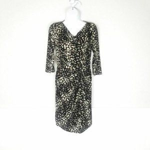 Ilse Jacobsen Career Knotted Front Cowl Neck Dress